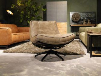 Fauteuil Manzone - caiman leer - taupe (4)