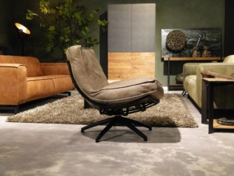Fauteuil Manzone - caiman leer - taupe (5)