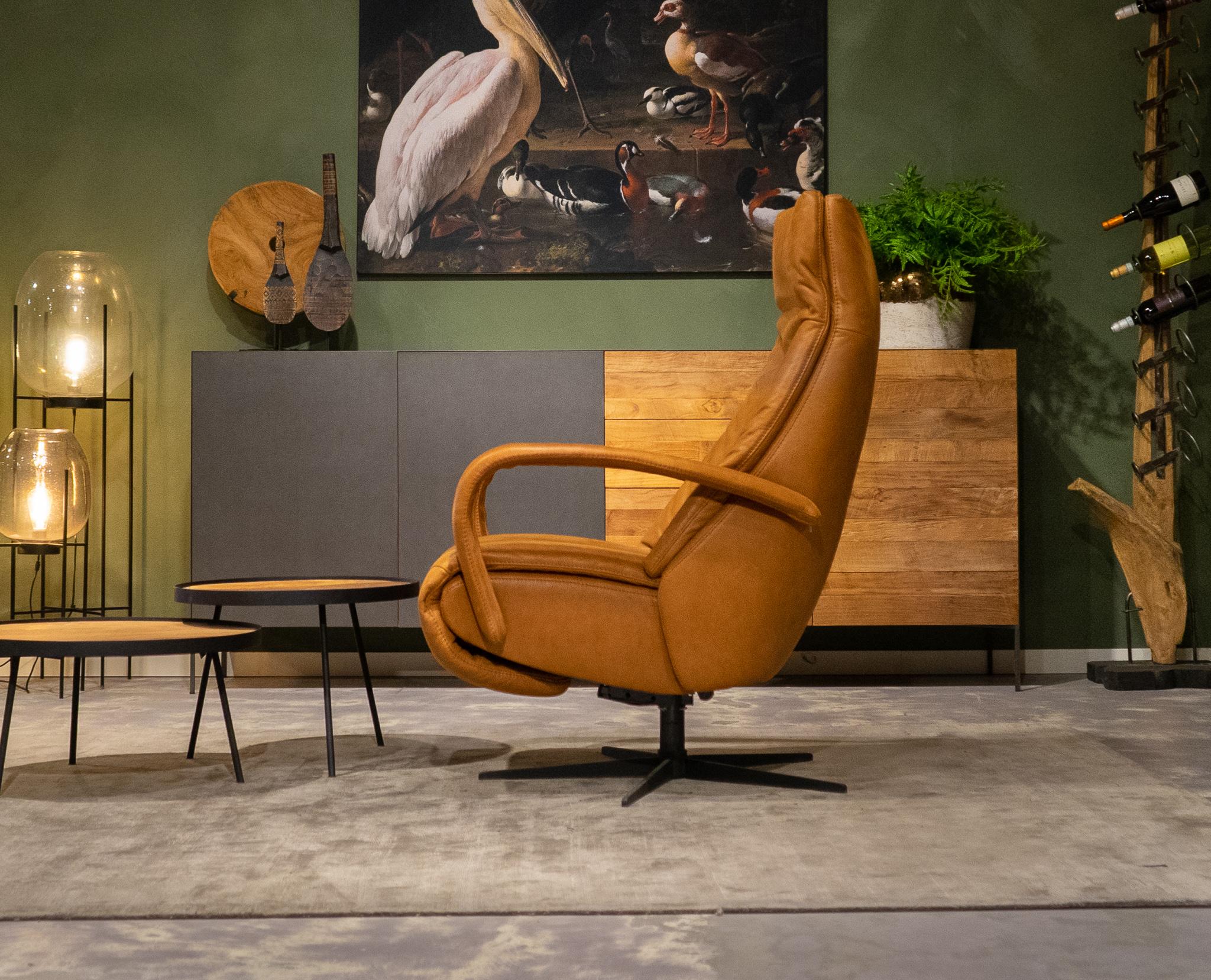 relax fauteuils cognac