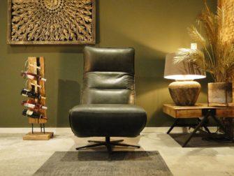 donkergroene fauteuil