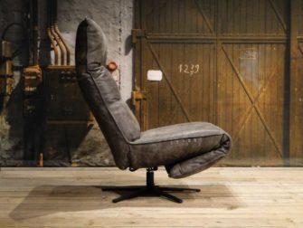 grijze leren relax fauteuil