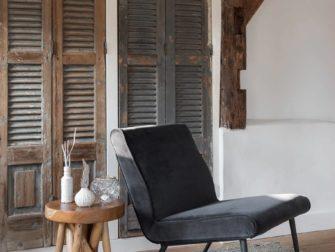 velvet grijze fauteuil