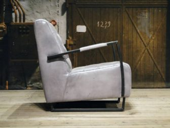 Fauteuil Owen - buffel leer vintage grey