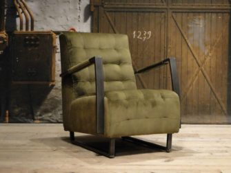 Stoere fauteuil in stof