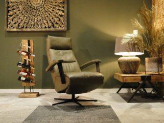 elektrische leren fauteuil