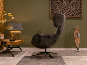 fauteuil velvet stof