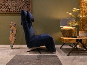 blauwe relaxstoel