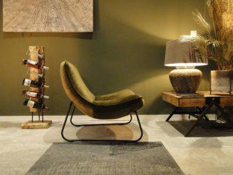Groene relaxstoel