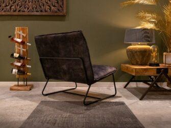 groene stoffen fauteuil