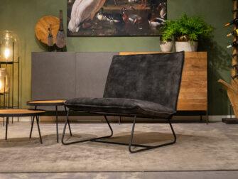 groene fauteuil velours