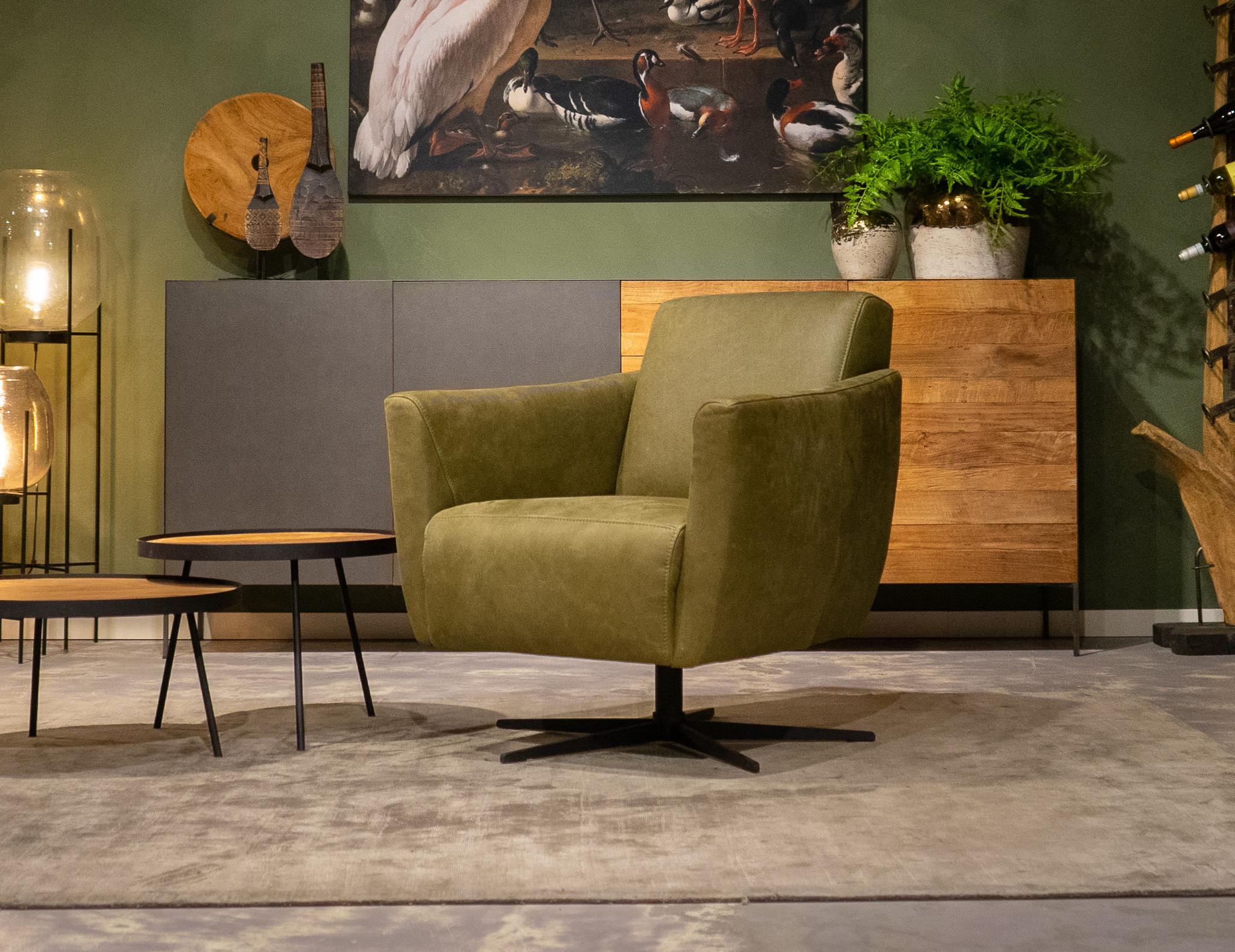 robuuste leren stoel