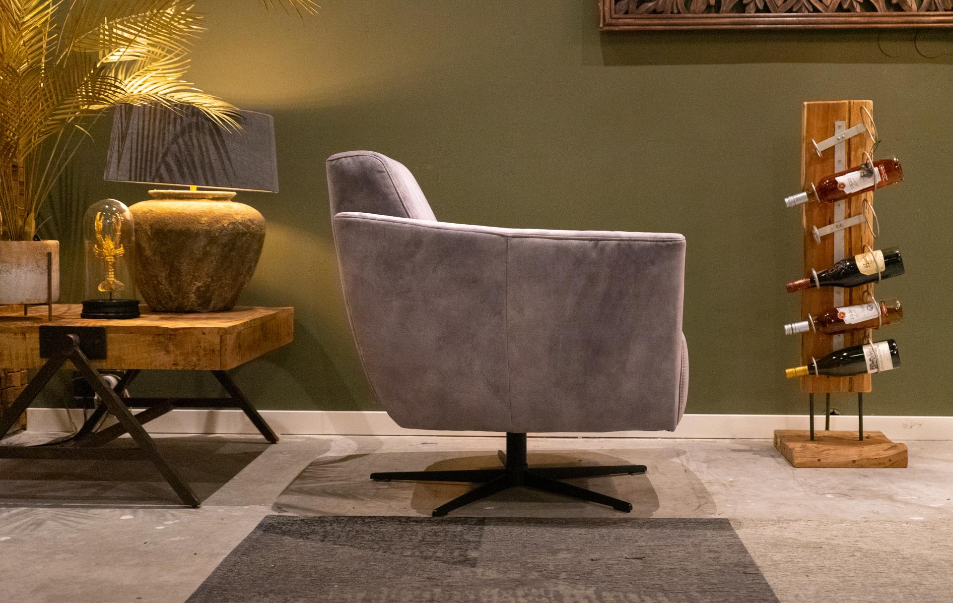 Grijze relax stoel