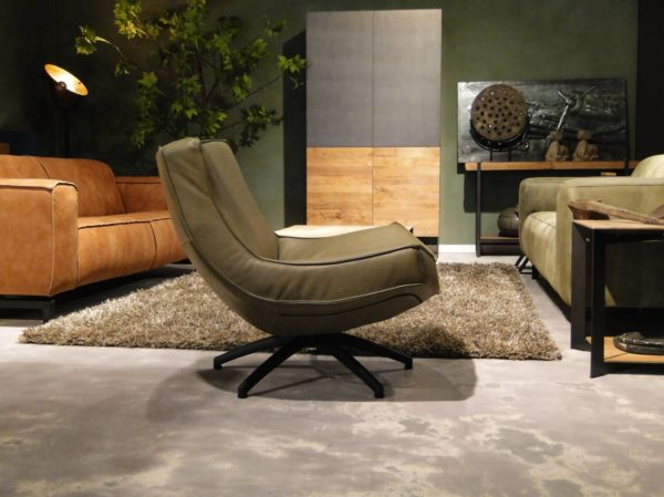 Groene relaxfauteuil