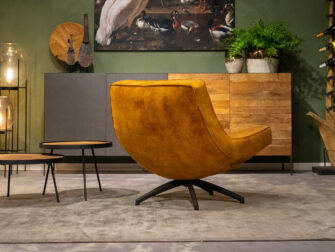 stoere velvet fauteuil