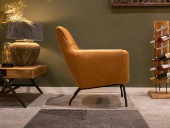 comfortabele stoel in leer