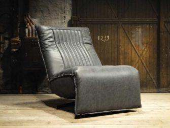 grijze relax fauteuil leer