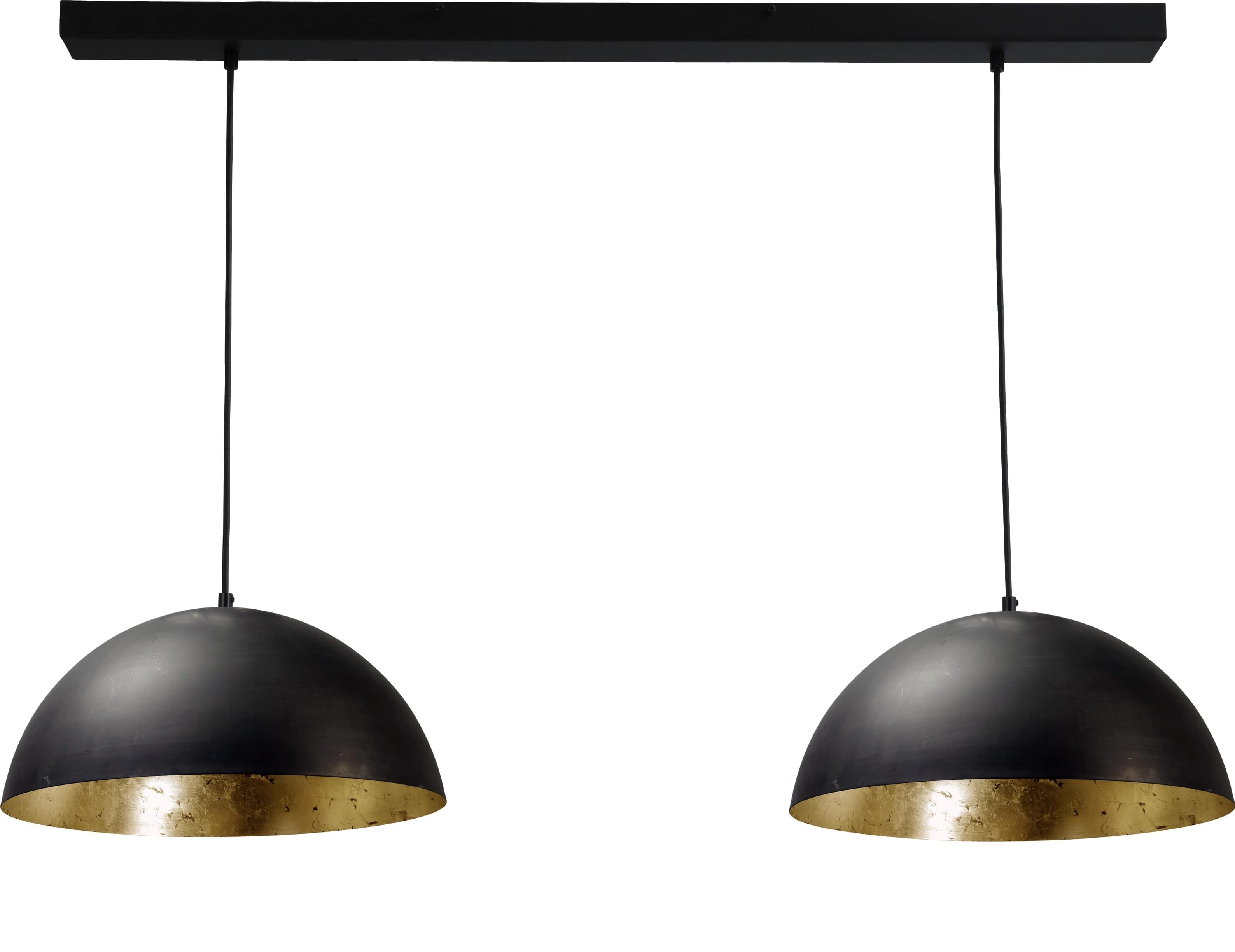 hanglamp gunmetal outside goldleaf inside