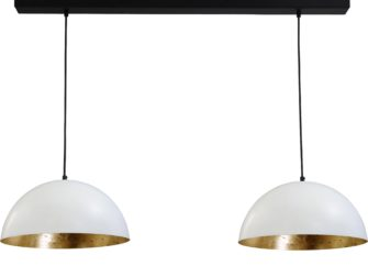hanglamp white outside goldleaf inside