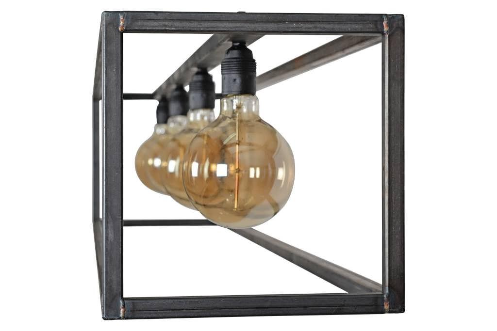 industriële hanglamp furio - van industrieel staal met 4x e27 fitting