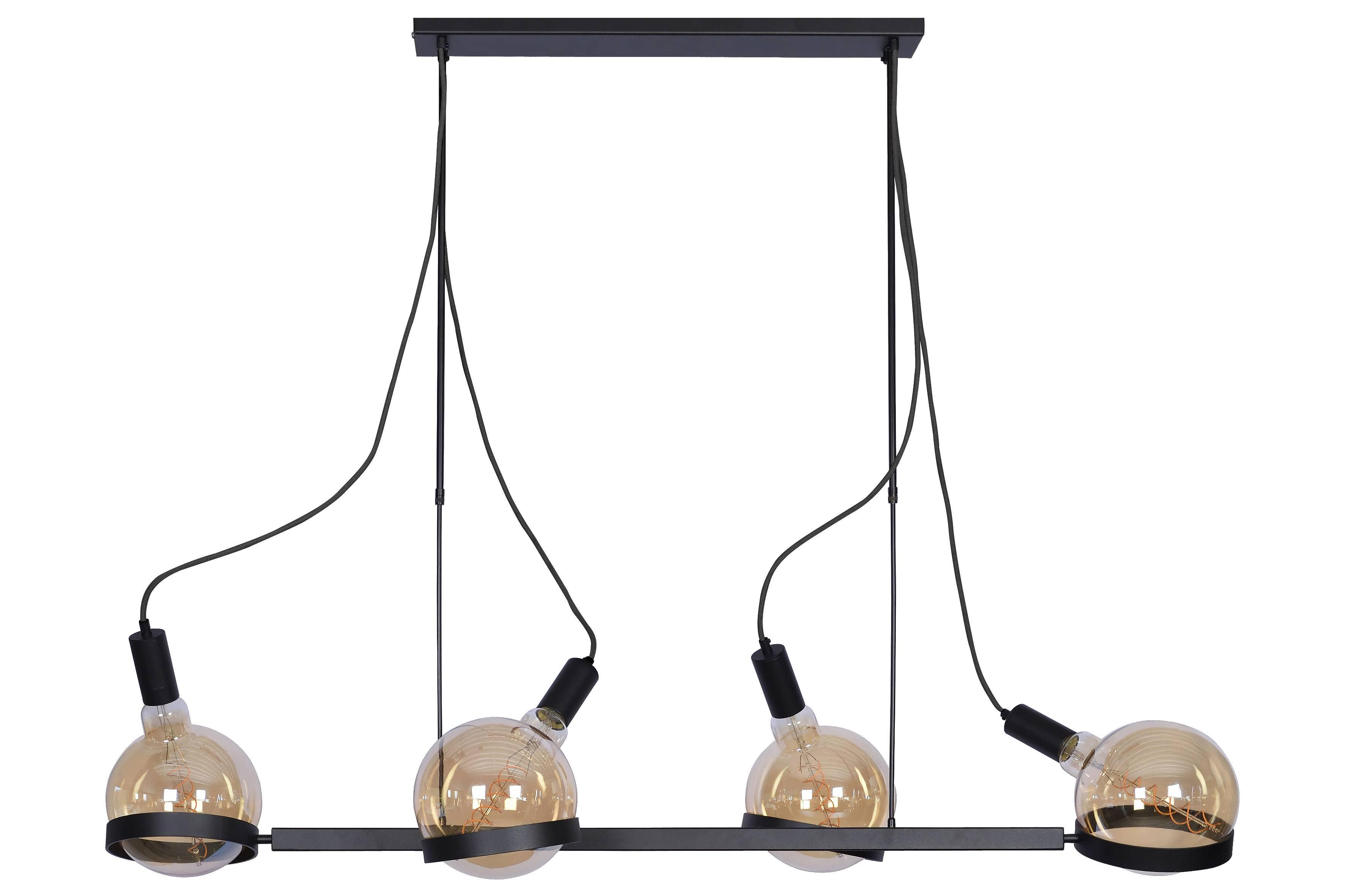Hanglamp Minori 145cm - RAL 9005 zwart - 4x E27