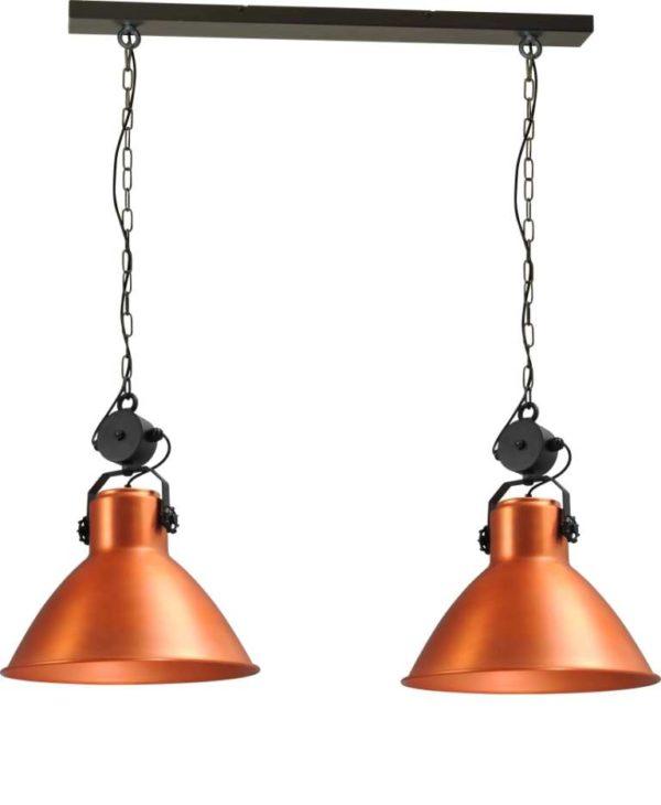 industriele hanglamp koper