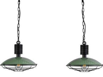 groene hanglampen