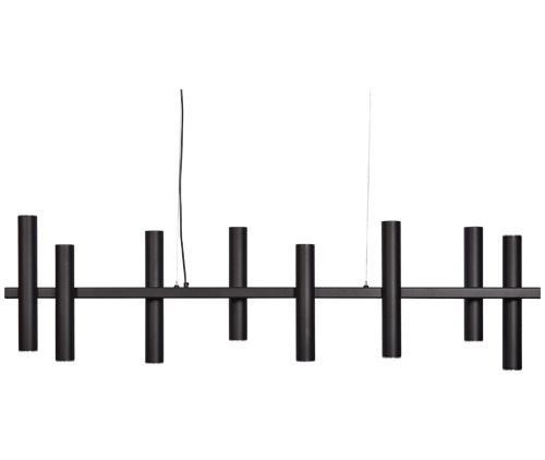 Hanglamp Salitto 145cm - RAL 9005 zwart - 4x E27 (5)