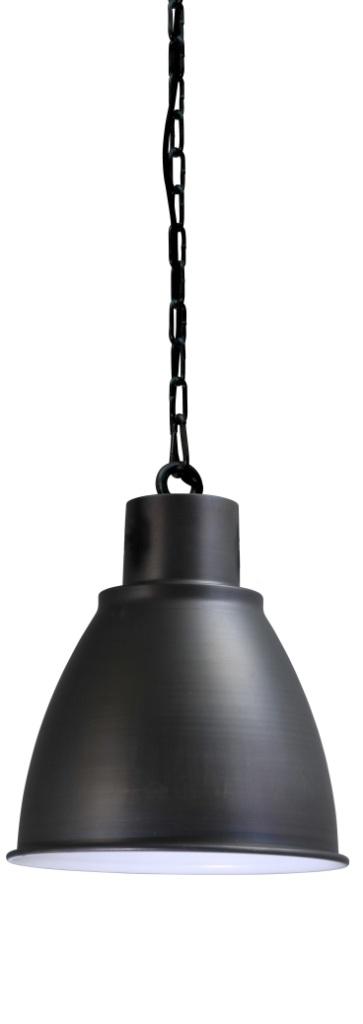 zwarte hanglamp met ketting
