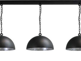 hanglamp gunmetal outside silverleaf inside
