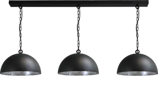 hanglamp gunmetal outside silverleaf inside