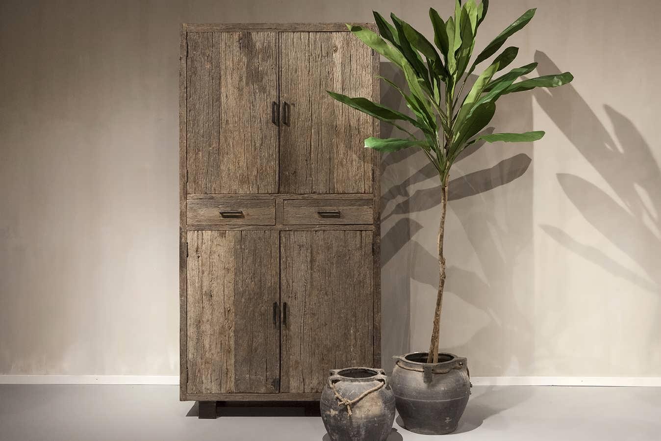Design Hoge Kast : Kast van oud hout bailar direct uit voorraad robuustetafels.nl
