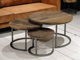 Houten Salon Tafel : Ronde houten salontafel sale vintage ronde houten salontafel met