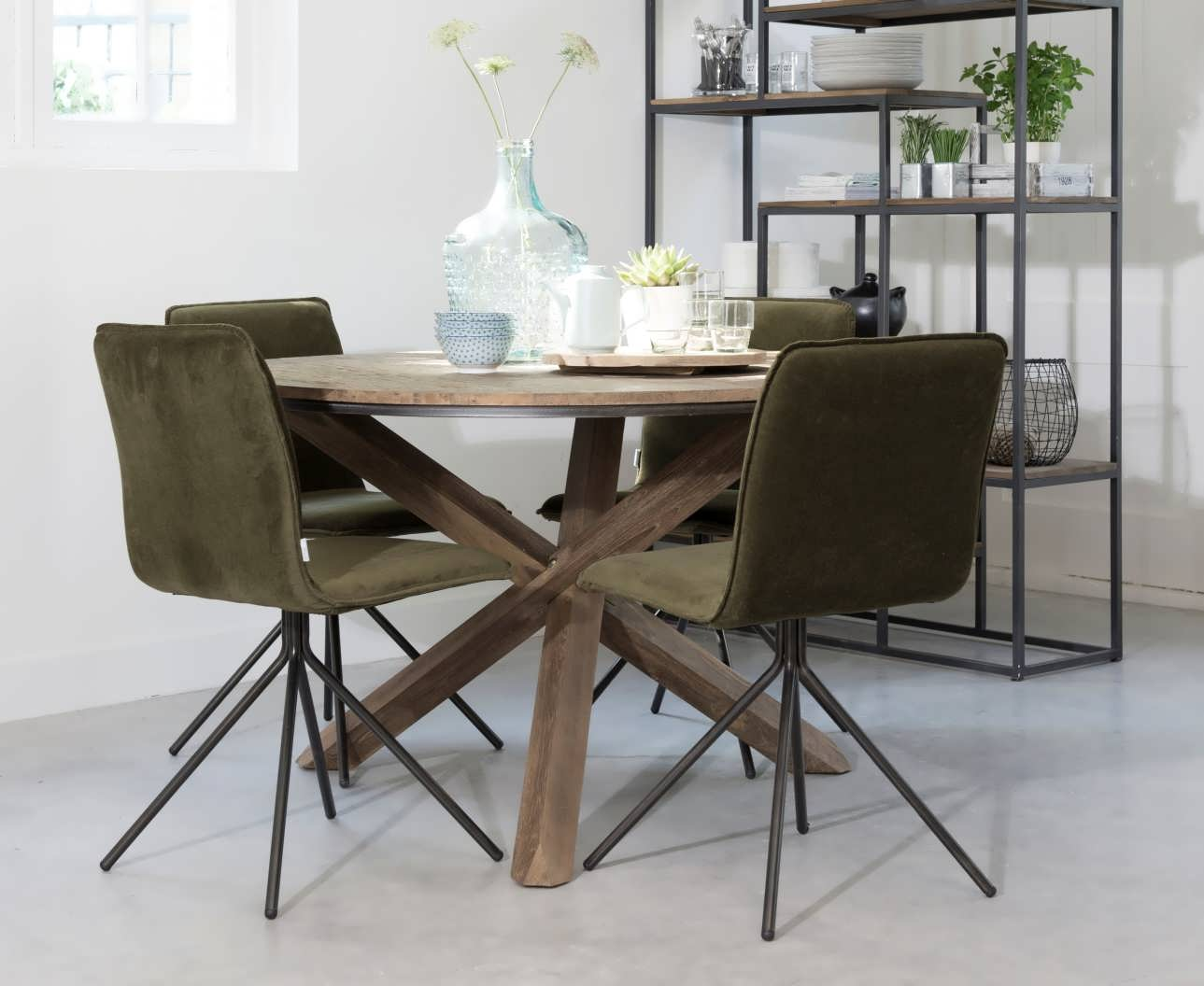 Ronde Tafel 130 : Ronde tafel zamunda gemaakt van recycled teak robuustetafels