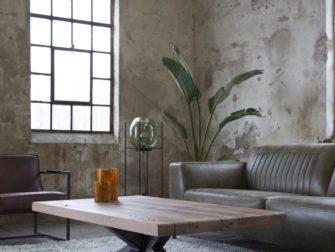 salontafel massief eiken blad