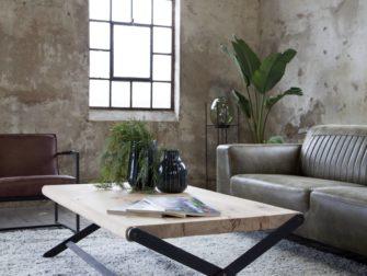 salontafel stalen kruispoot