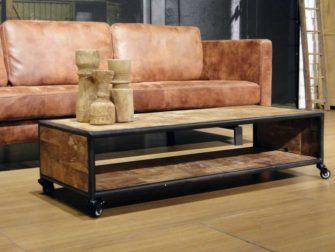 teak houten salontafel