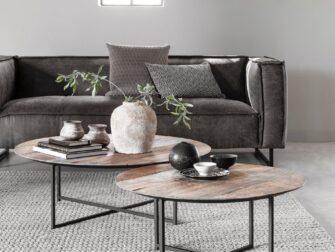 set van ronde salontafels
