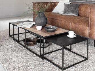 Vierkante salontafelset