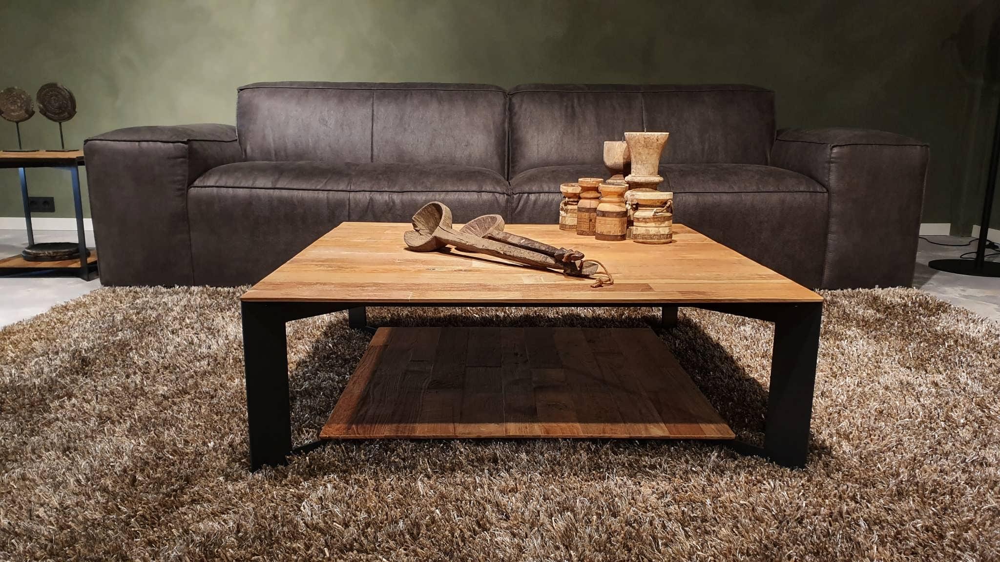 stijlvolle salontafel oud teak
