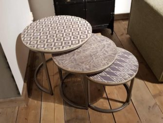 salontafel set van 3 beton