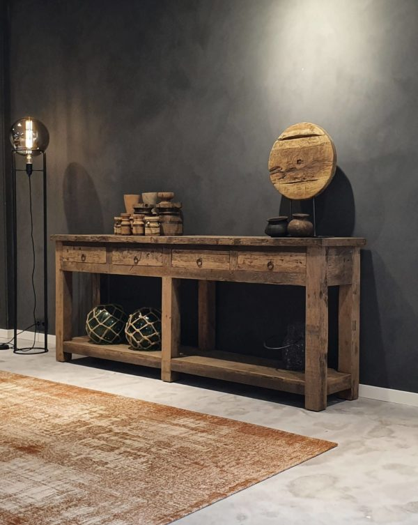 stijlvolle sidetable oud hout