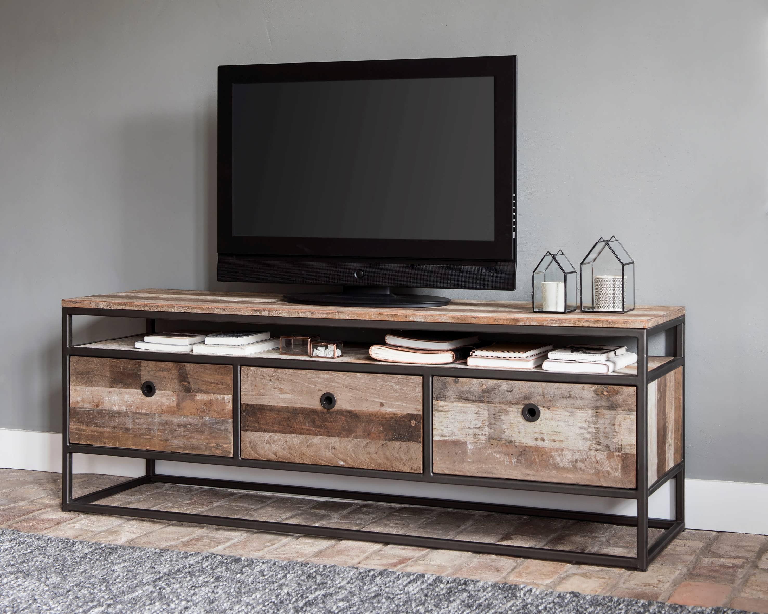 Oude Houten Kast : Industrieel tv meubel orleans van recycled teak robuustetafels.nl