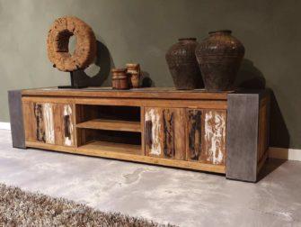tv-kast oud teak hout