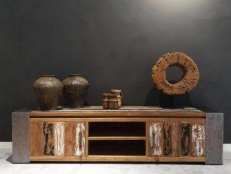 tv-dressoir oud hout