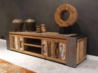 robuust tv-meubel met open vakken