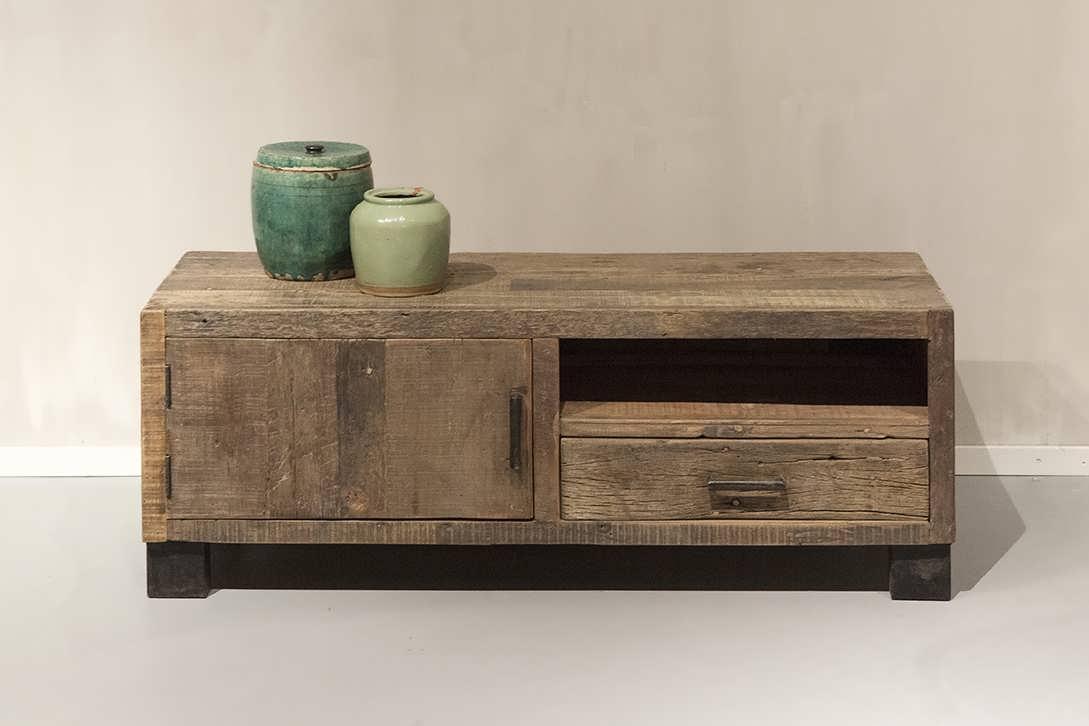 Tv meubel van oud hout bailar direct uit voorraad robuustetafels