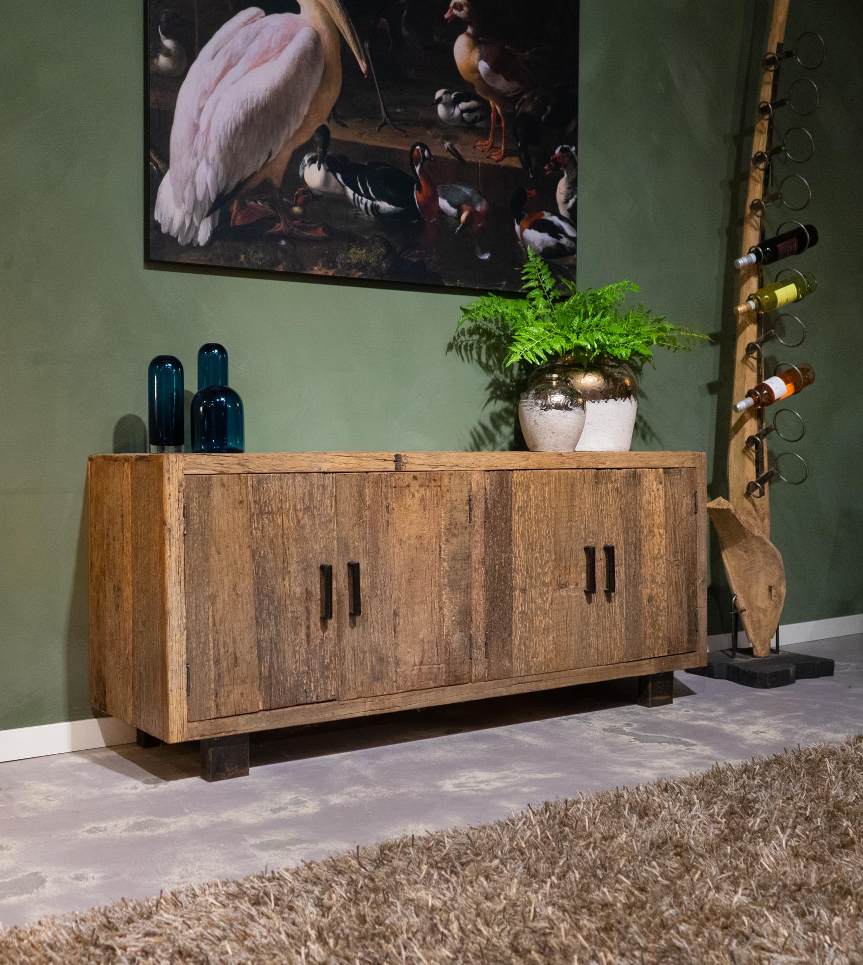 tv-meubel oude planken