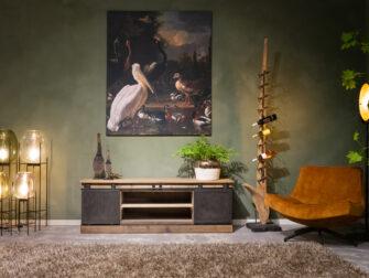 tv meubel oud hout