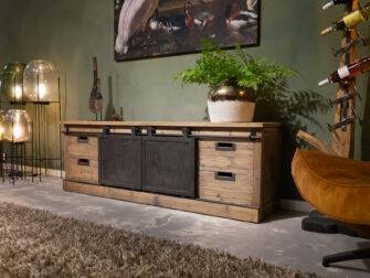 tv meubel met schuifdeurtjes