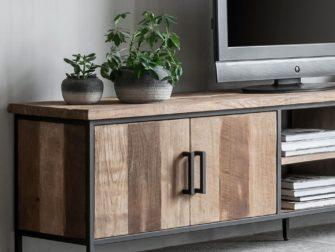 tv meubel met hout en staal